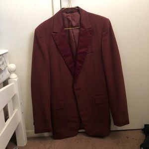 After Six 70s Burgundy Jacket